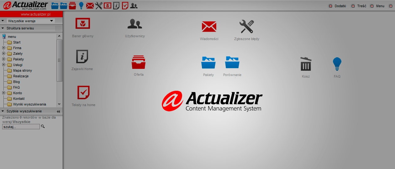 Actualizer CMS